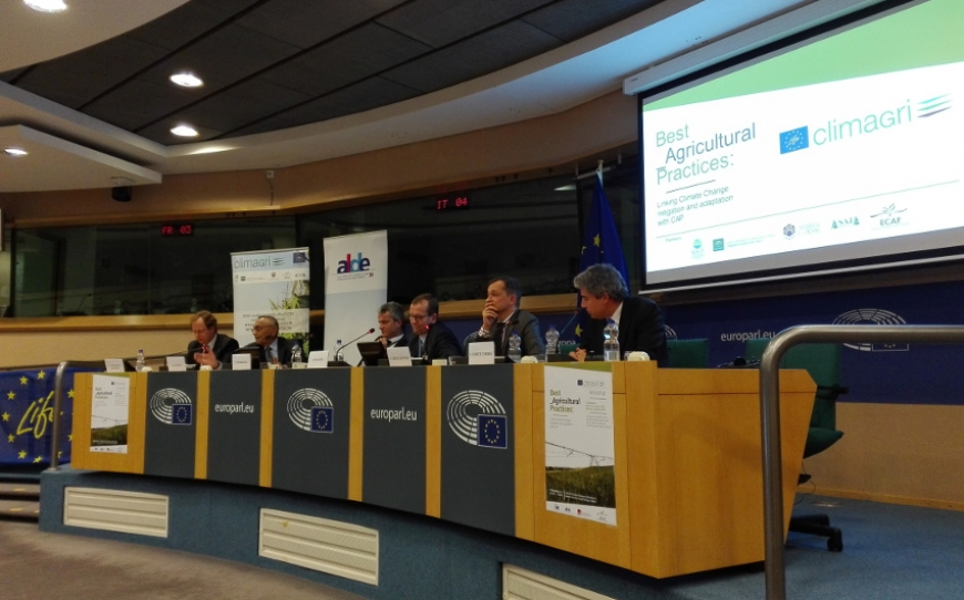 The European Parliament hosts an international workshop of the Life + Climagri project on agriculture and adaptation and mitigation of climate change