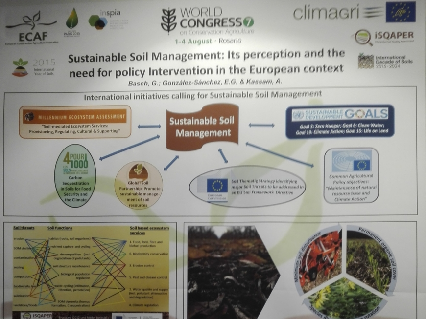 The Life + Climagri Project presented at the 7th World Congress on Conservation Agriculture